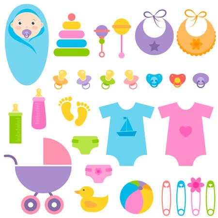 stuff toy: set of baby elements