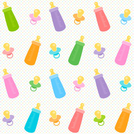 Background with baby pacifiers