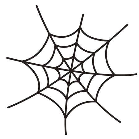 spider web: Spider web on white background Illustration