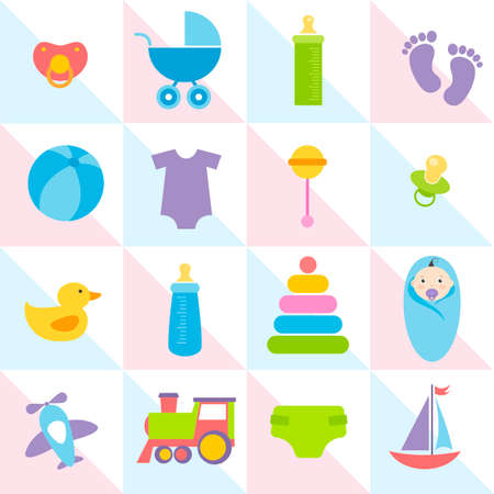 stuff toys: background with baby boy elements