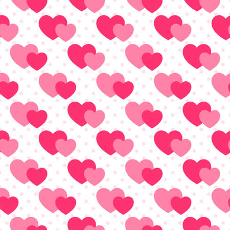 background with the pink hearts