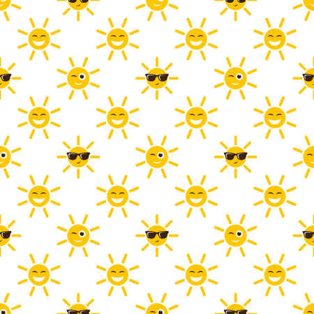 Seamless pattern with sun icons. 向量圖像
