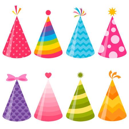 Birthday party hats set Illustration