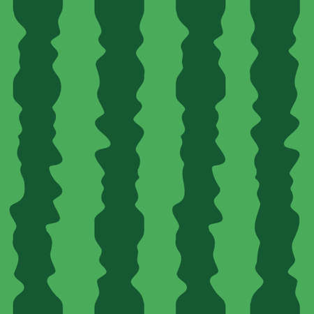 Green cartoon watermelon texture background. Seamless pattern