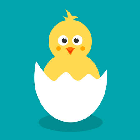 cartoon chicken for easter design
