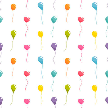 Seamless pattern with colorful balloons Stock Illustratie
