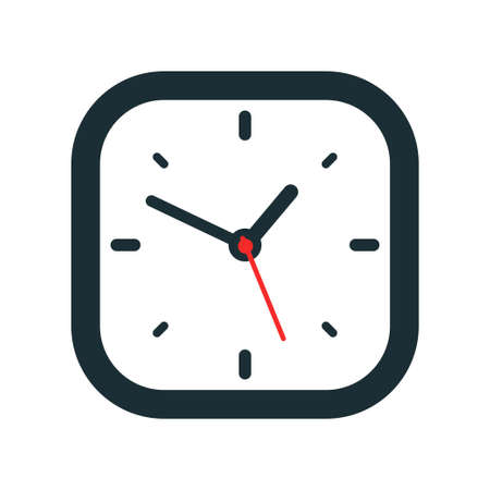 Clock icon design on white background