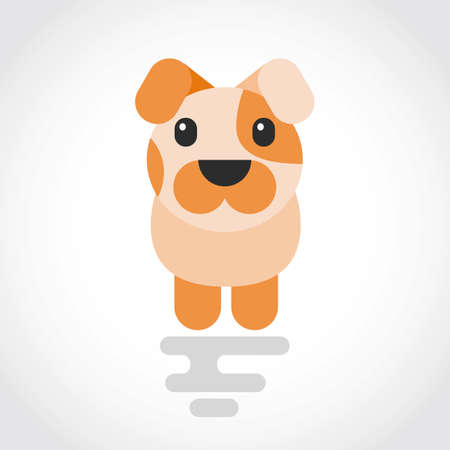 Icon of a cute dog in flat design