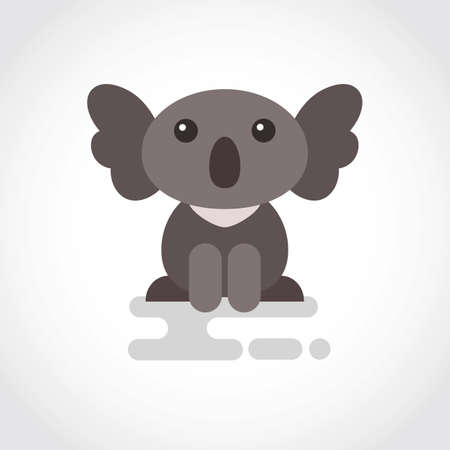Icon of funny coala in flat design