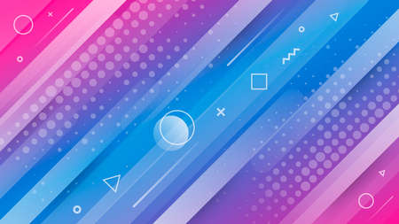 Modern trendy abstract background with geometric shapes Stock Illustratie