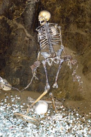 skeleton of imprisoned princess from the castle photo