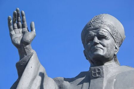 rood: statue of Pope John Paul the second