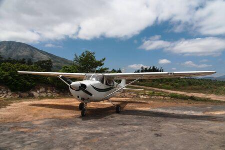 cessna: A cessna 175 light aircraft preparing for its next flight Editorial