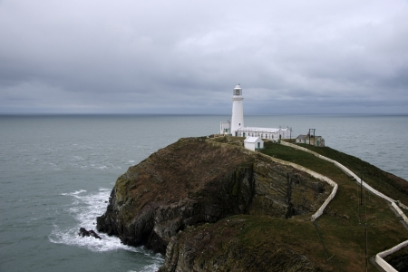 ynys: South Stack lighthouse  Ynys Lawd   at Holyhead, Anglesey