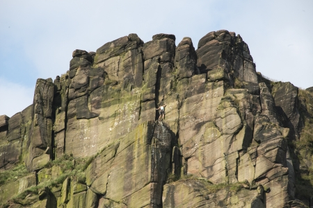 carboniferous: Close up of the climbing destination, the Roaches, Staffordshire Stock Photo