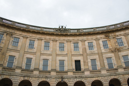 crescent: Buxton Crescent, Buxton, UK Stock Photo