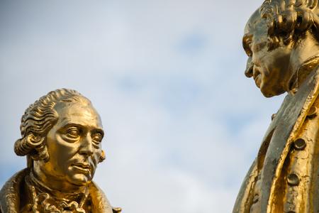watt: Statue of Matthew Boulton, James Watt, and William Murdoch by William Bloye, Birmingham, England
