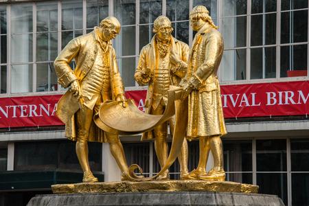 street wise: Statue of Matthew Boulton, James Watt, and William Murdoch by William Bloye, Birmingham, England