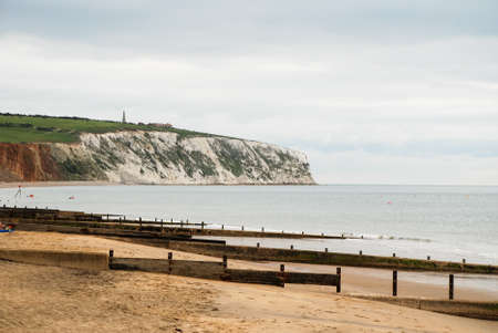 wight: A beach on a cloudy day, Isle of Wight
