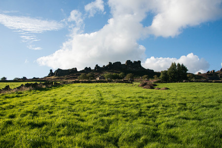 Ramshaw rocks in the Staffordshire moorlands on a sunny day Stock Photo