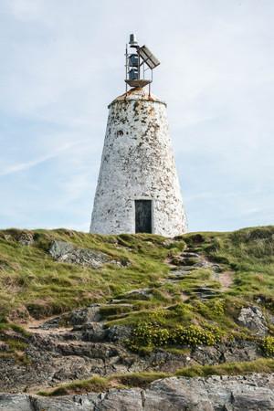 Llanddwyn lighthouse, Anglesey, North Wales