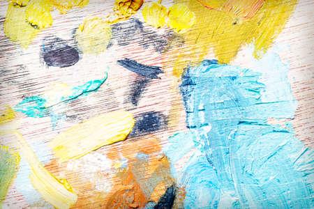 paints: palette with paints