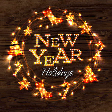 harland: New year wreath garland poster