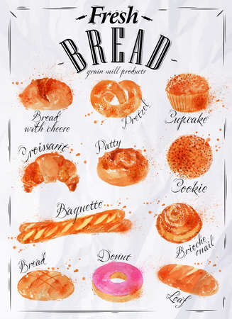 croissants: Bread products poster paper