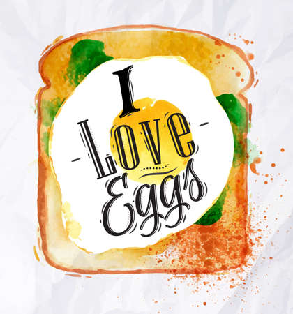 bacon love: Toast with scrambled eggs
