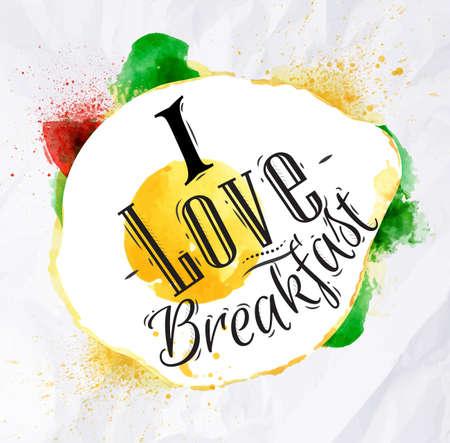 scrambled: Eggs I love breakfast