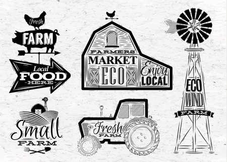 farm landscape: Farm vintage