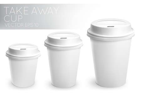 disposable: Take away paper cup white