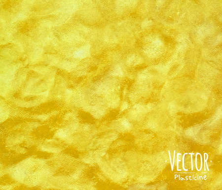 Plasticine hand modeling vivid yellow color background