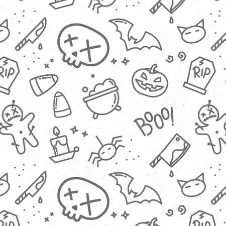 Halloween crâne dessin au style plat