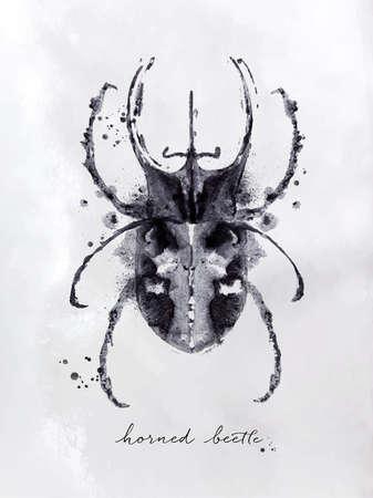 Monotype hornet beetle.