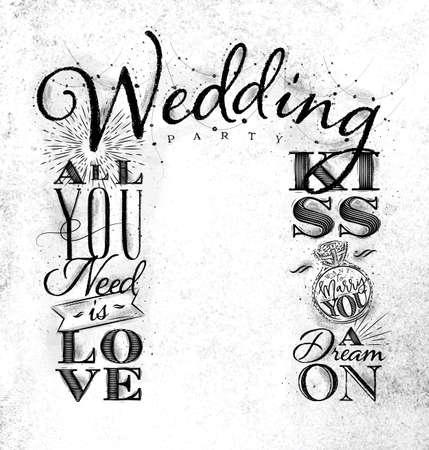 ヴィンテージスタイルの結婚式と婚約の背景。汚れた紙の背景に描画します。 写真素材 - 91592786