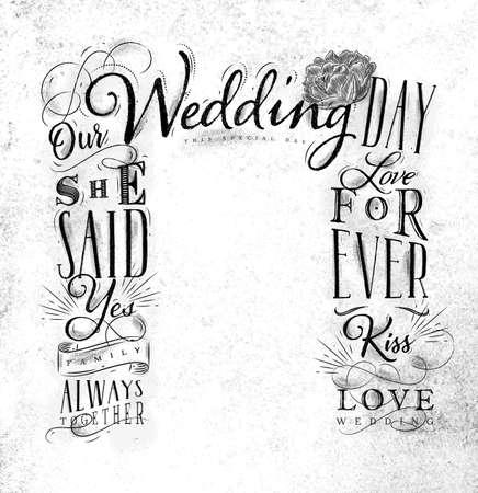 汚れた紙の背景に描かれた結婚式や婚約の背景。 写真素材 - 91592788