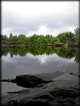 a power plant lake