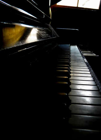 a very old piano Stock Photo
