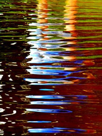 l'eau fonctionne comme un miroir