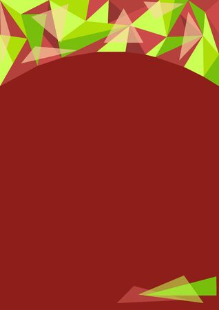 polygon beautiful green background for design