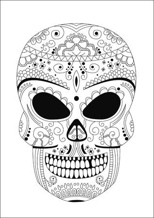 chap: human skull style