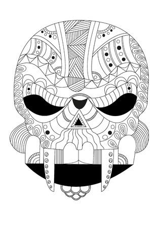 chap: alien skull style