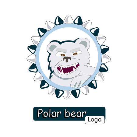 anger polar bear Illustration