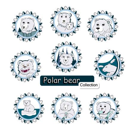 a set of polar bears Illustration