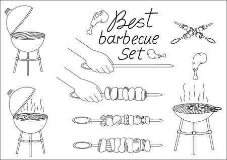 barbecue set for your design