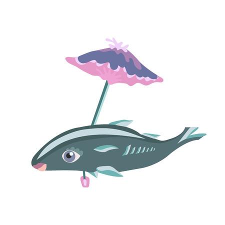 sea fish under the umbrella