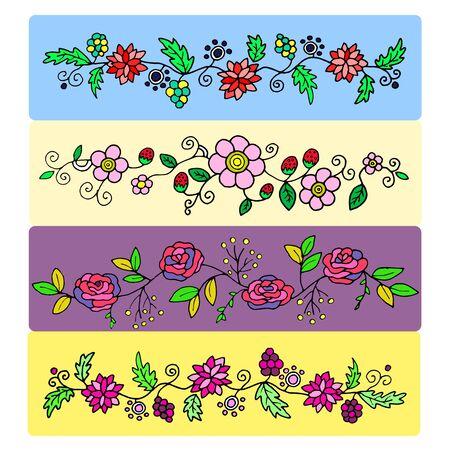 petunia wild: set of floral patterns for design