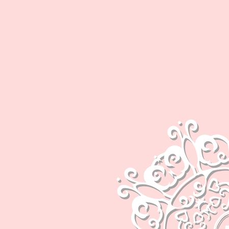 white lace corner for design Vettoriali