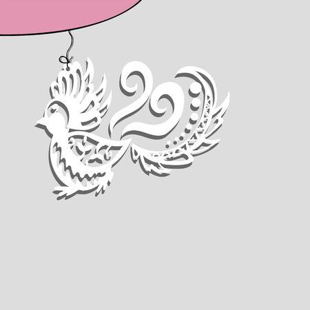 paper bird on a string